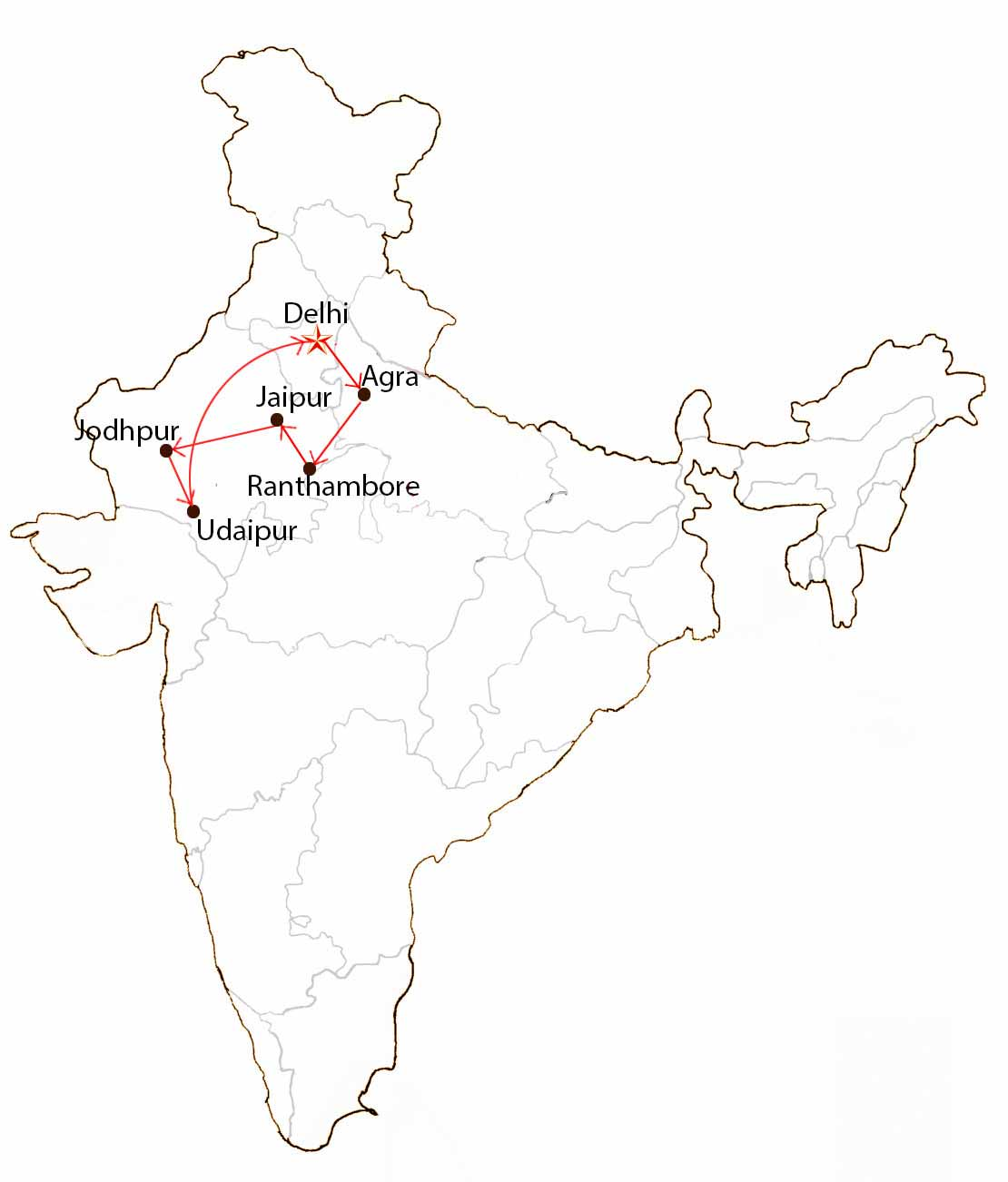 Colors of Rajasthan  Map