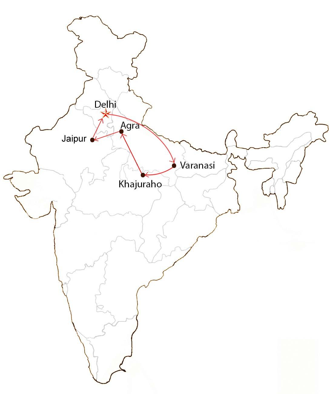 Spirituality Tour  Map