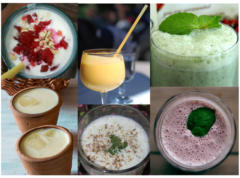 Lassi, India's favorite summer drink in a variety of flavors.