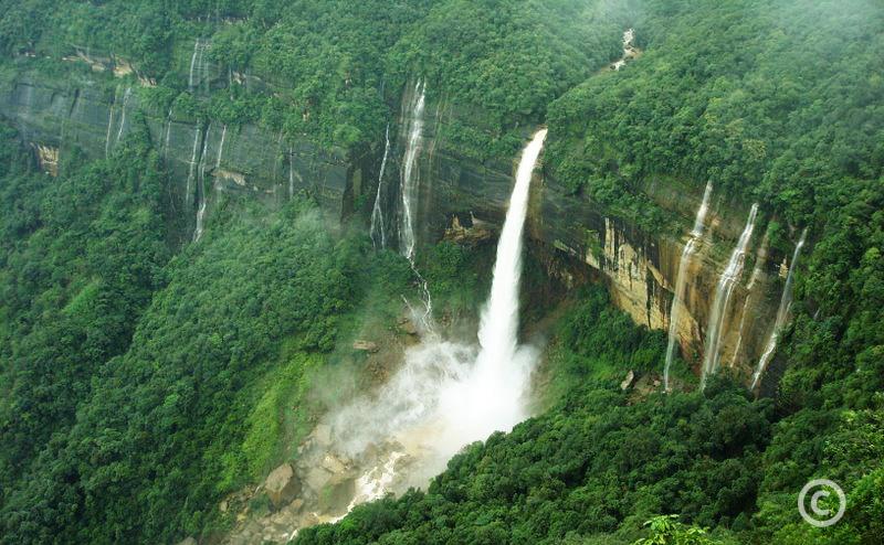 Nohkalikai Falls Cherrapunjee Shillong Meghalaya India