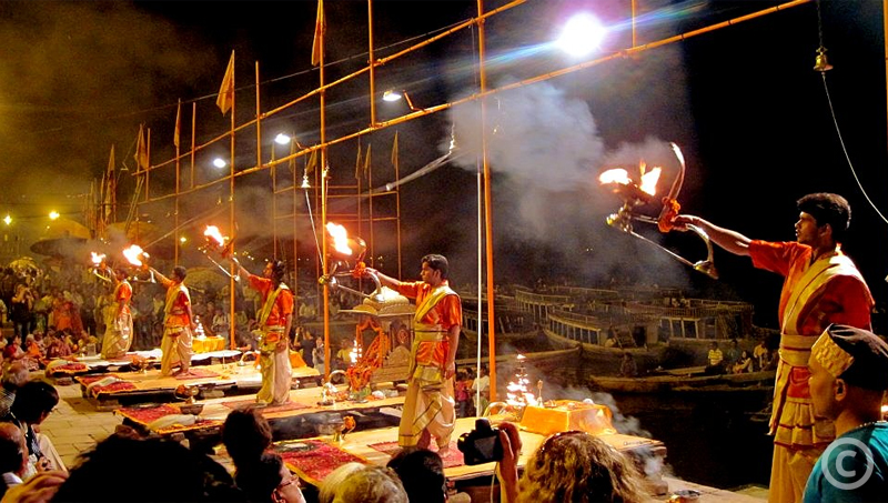 Evening Ganga Aarti at Dashashwamedh Ghat - Varanasi
