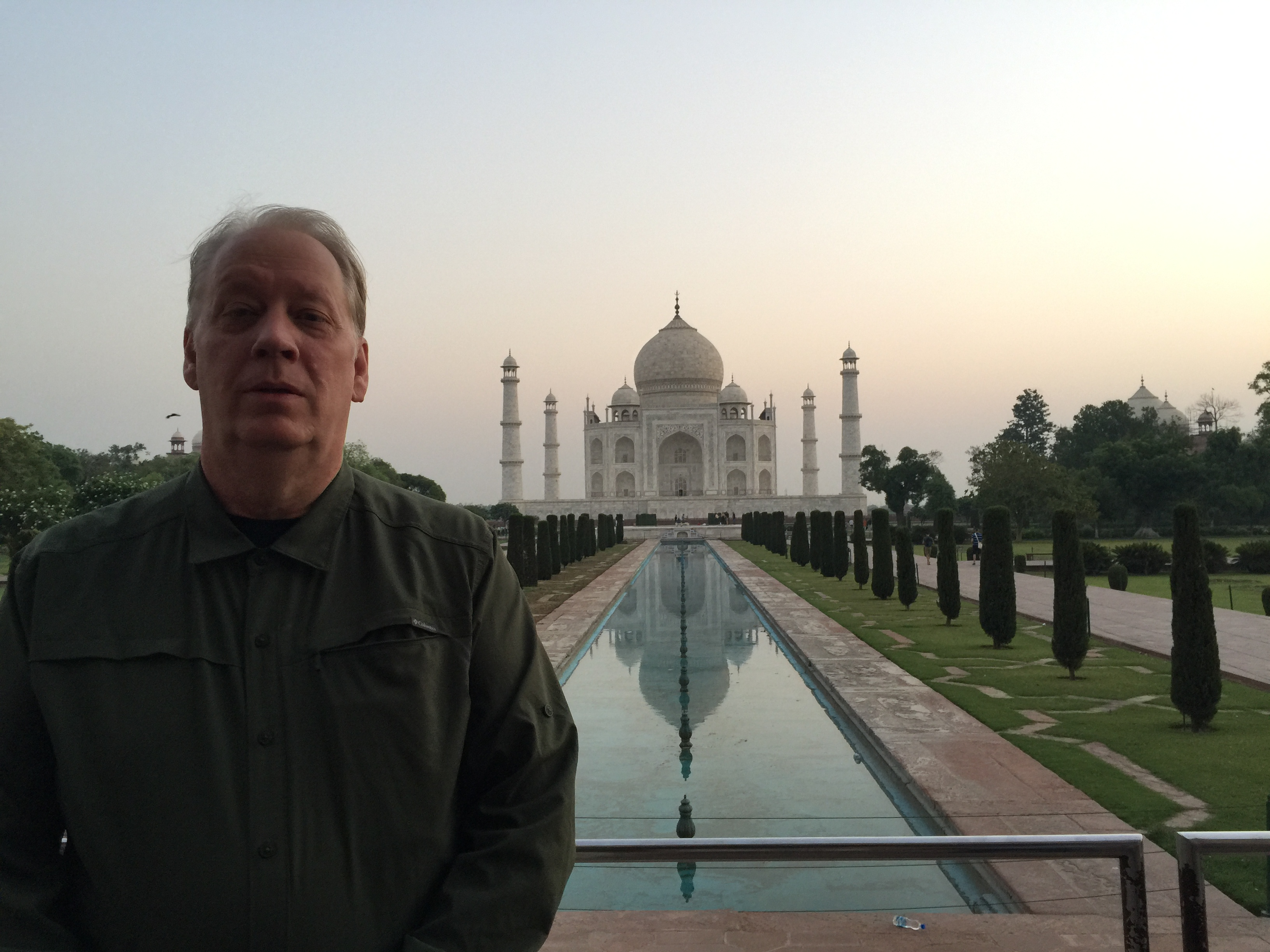 Mr. Hassrick at the Taj Mahal